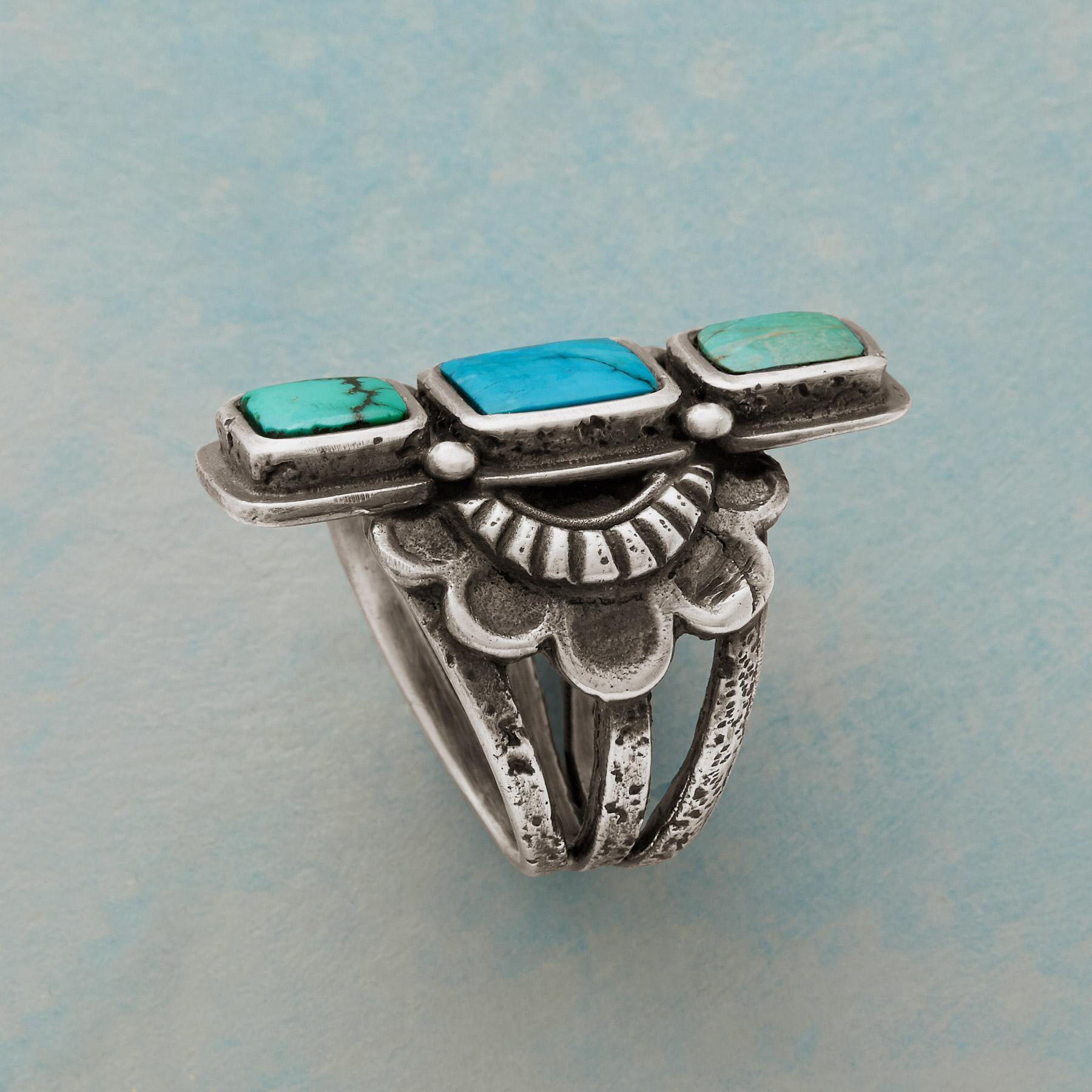 TURQUOISE TOWER RING: View 2