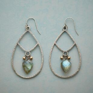 ARROWHEAD LABRADORITE EARRINGS