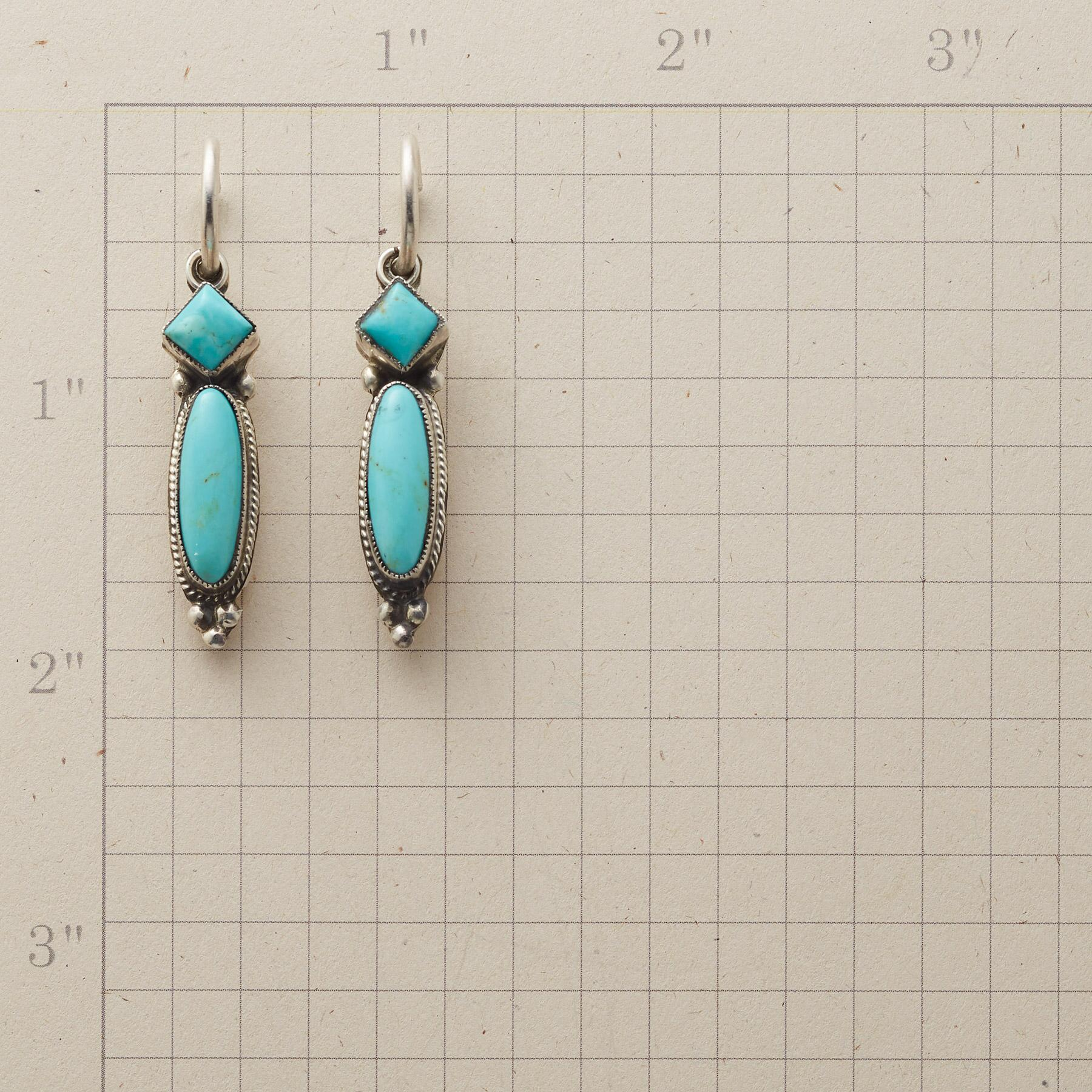 LONG LINE TURQUOISE EARRINGS: View 2