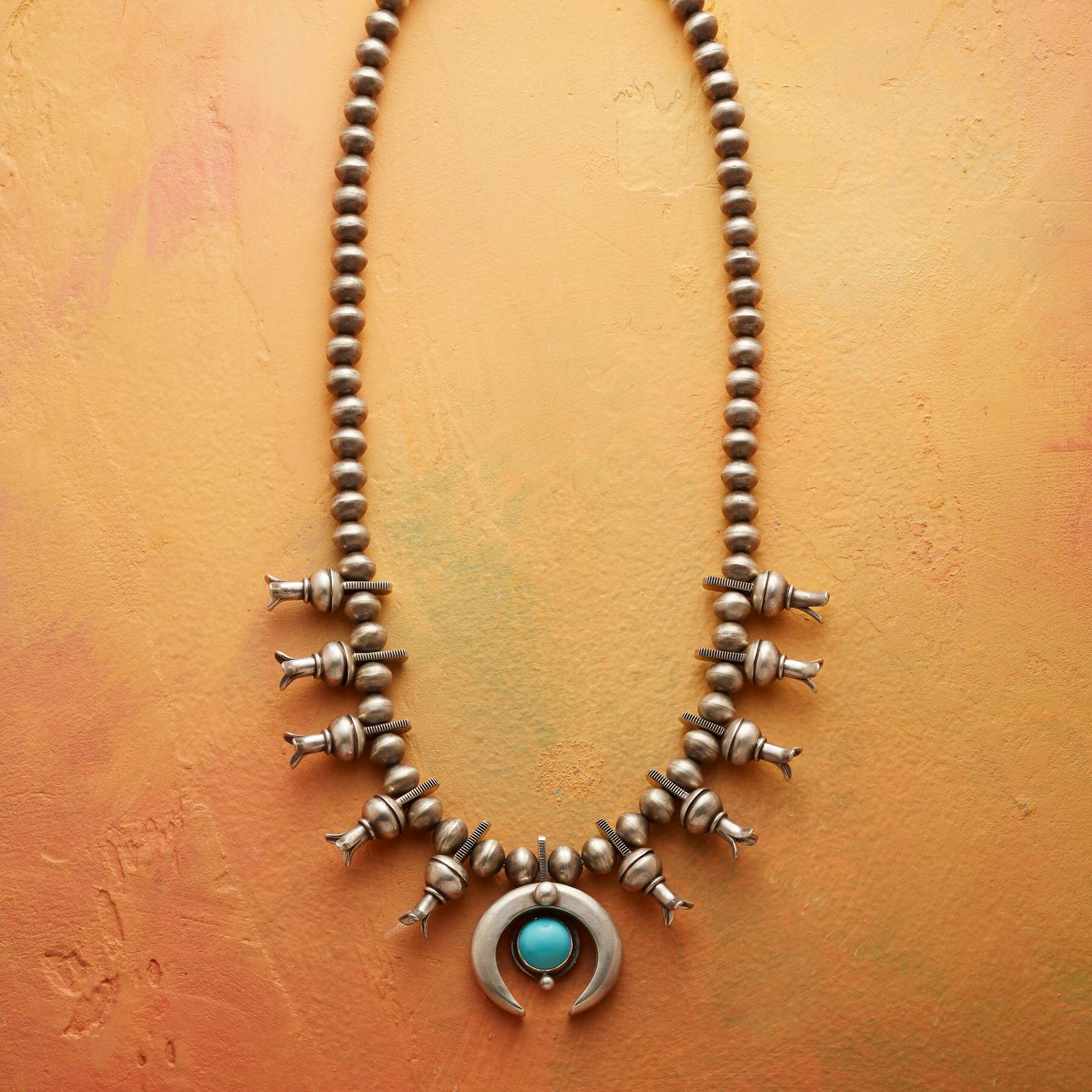 ESSENCE SQUASH BLOSSOM NECKLACE: View 1