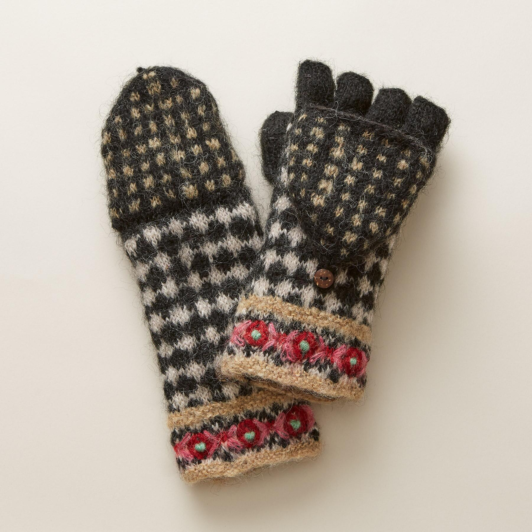 SNOWFALL CONVERTIBLE MITTENS: View 1
