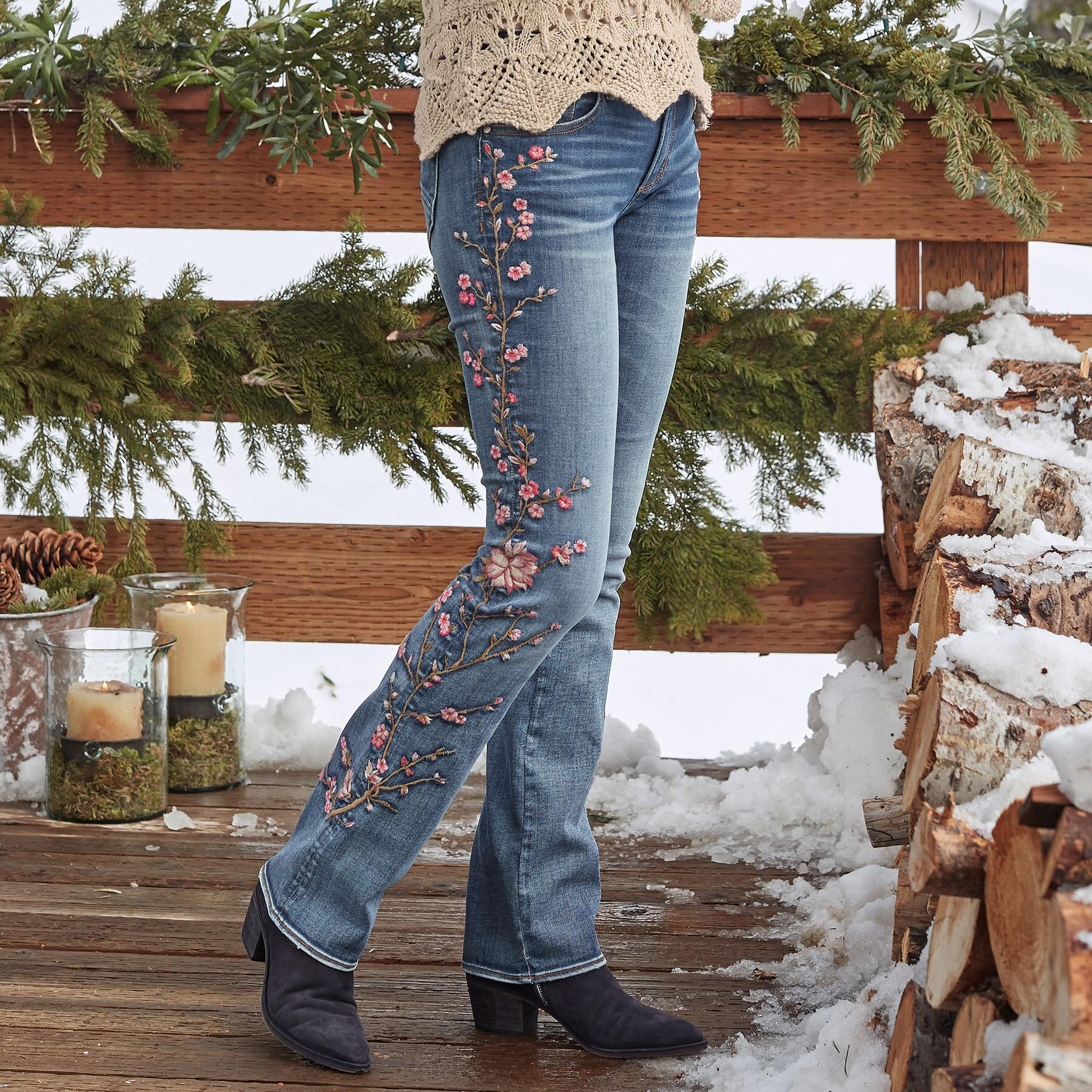 KELLY CHERRY BLOSSOM JEANS: View 1