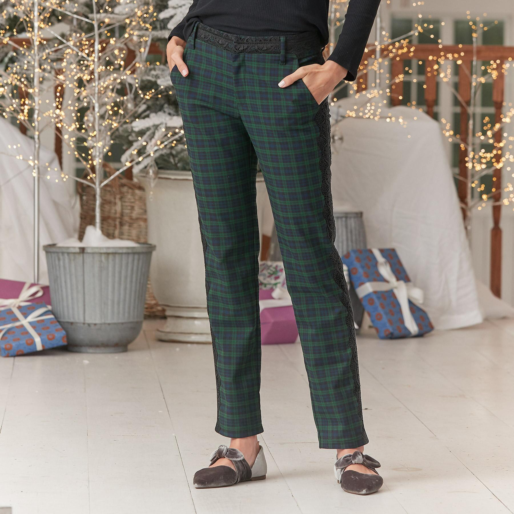 DRESSED UP PLAID TROUSERS: View 1