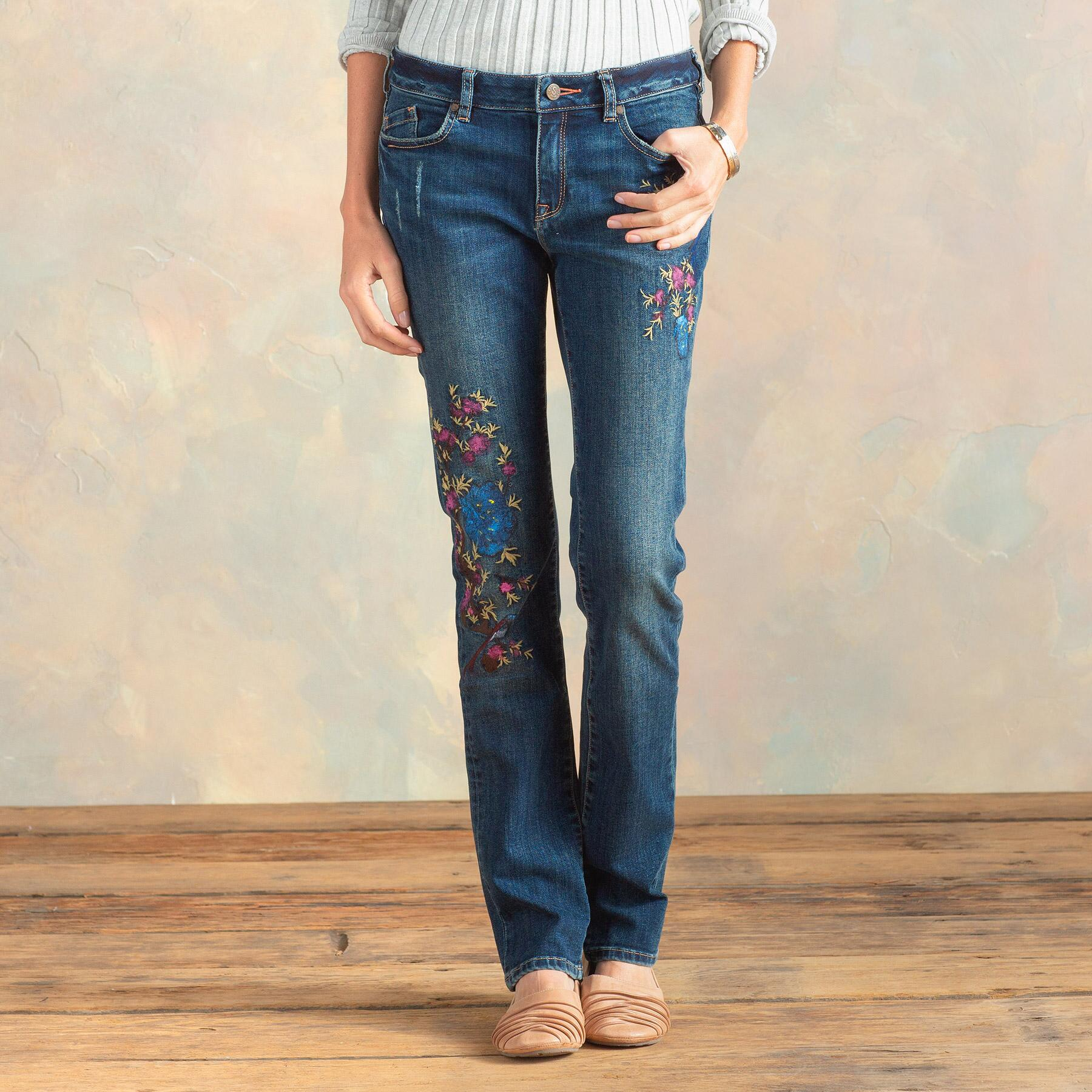MAGNOLIA HANPAINTED JEANS: View 2