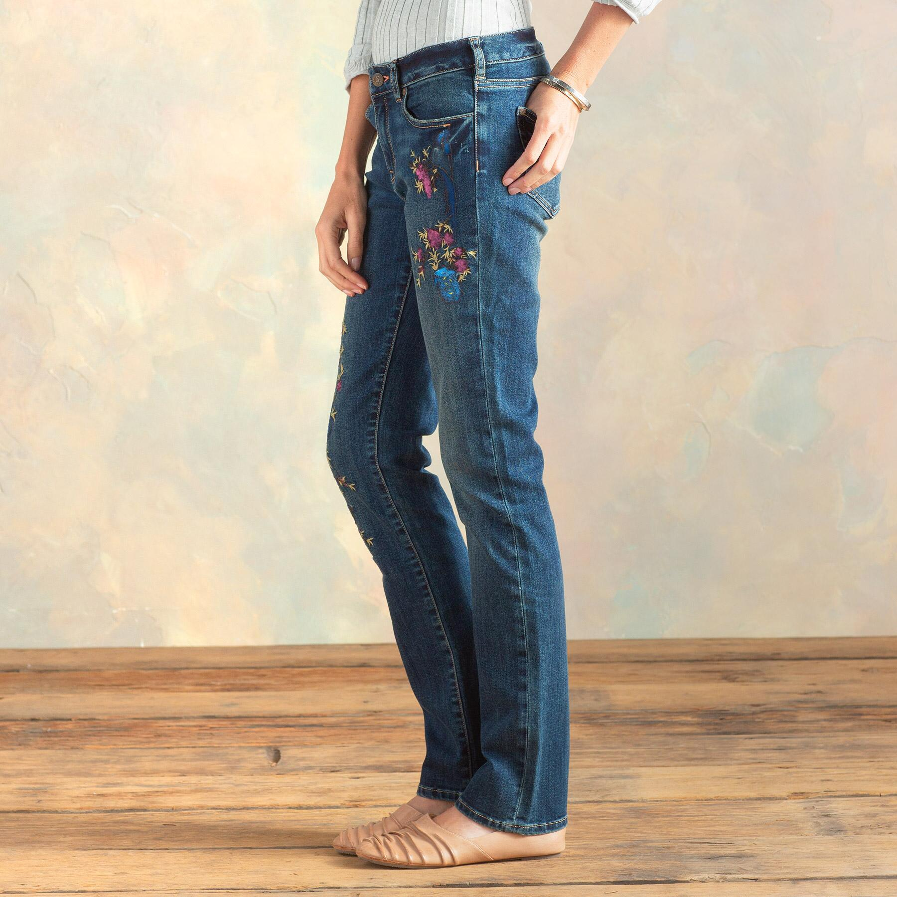 MAGNOLIA HANPAINTED JEANS: View 5