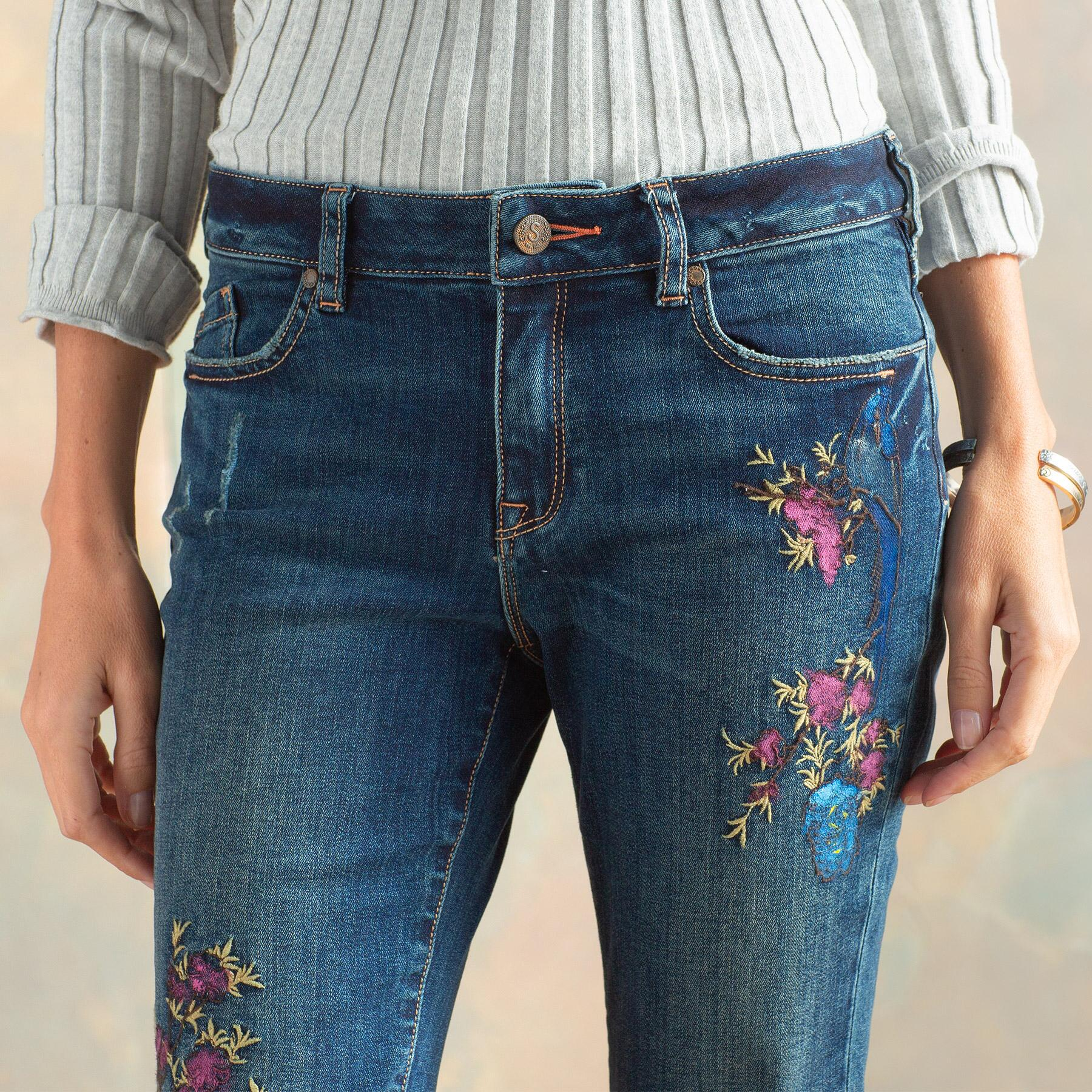 MAGNOLIA HANPAINTED JEANS: View 6