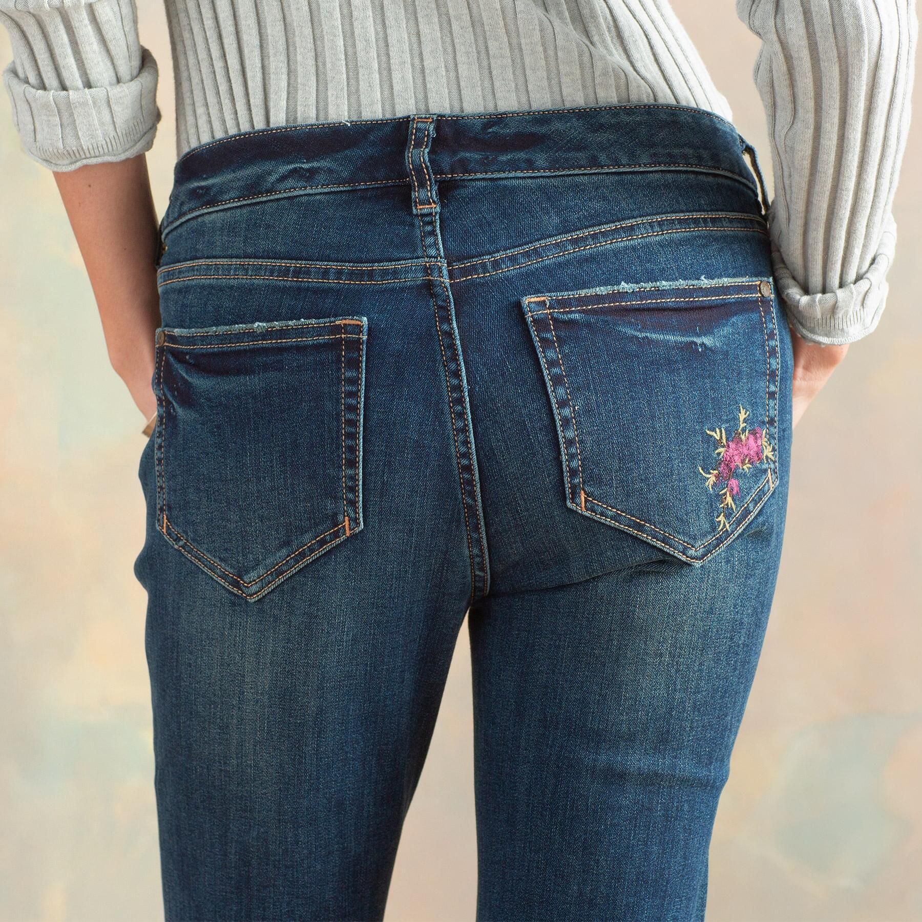 MAGNOLIA HANPAINTED JEANS: View 7