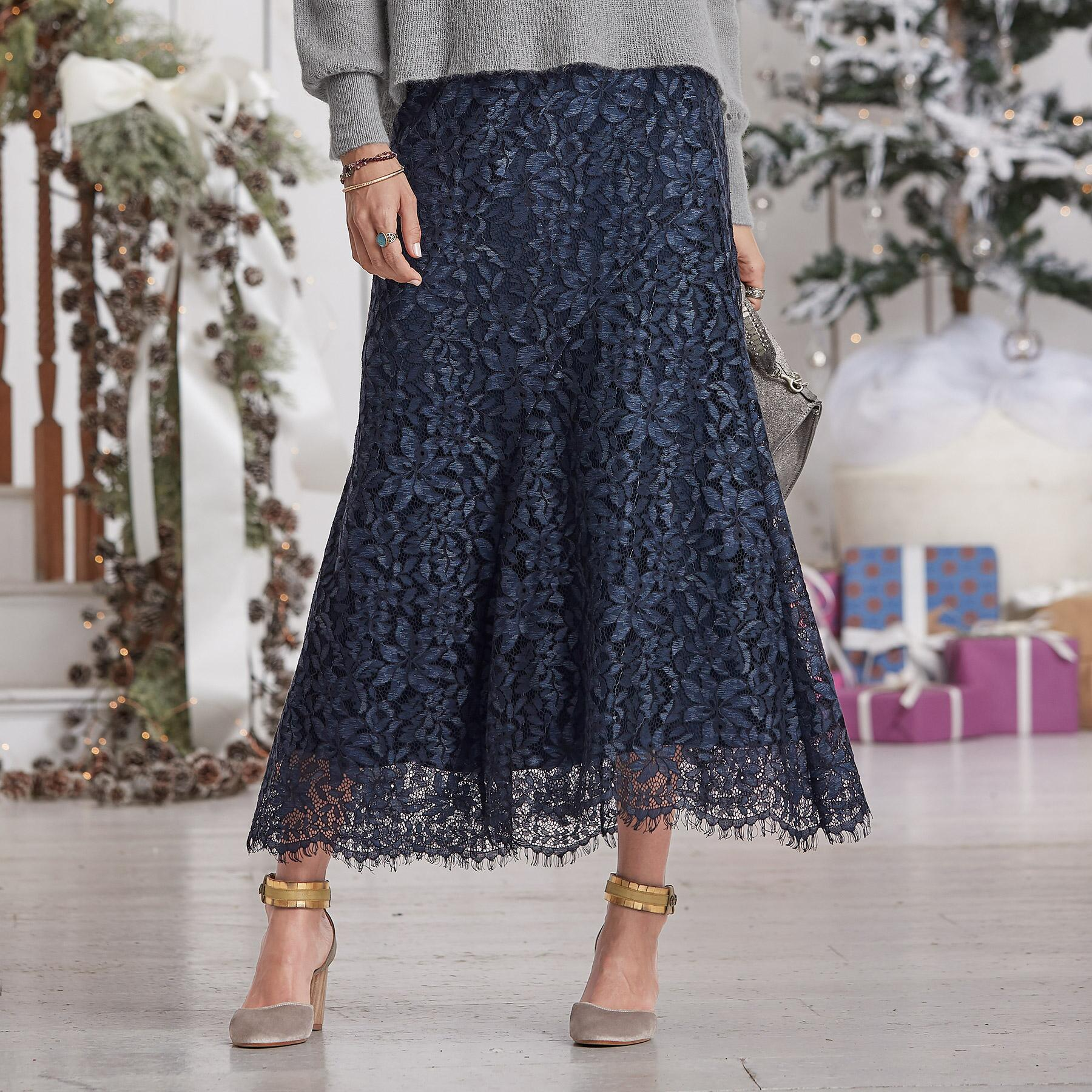 FLORAL LACE SKIRT: View 1