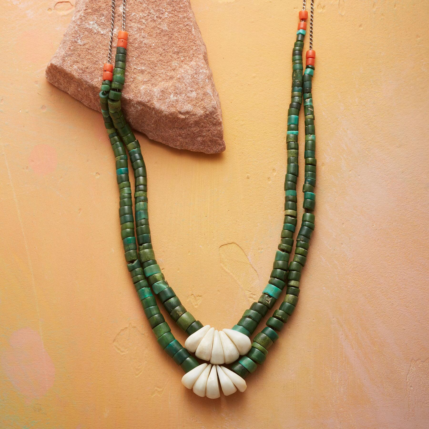 1910 TURQUOISE HEISHI NECKLACE: View 1