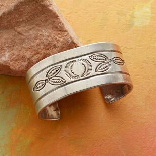 1960S STAMPED STERLING CUFF