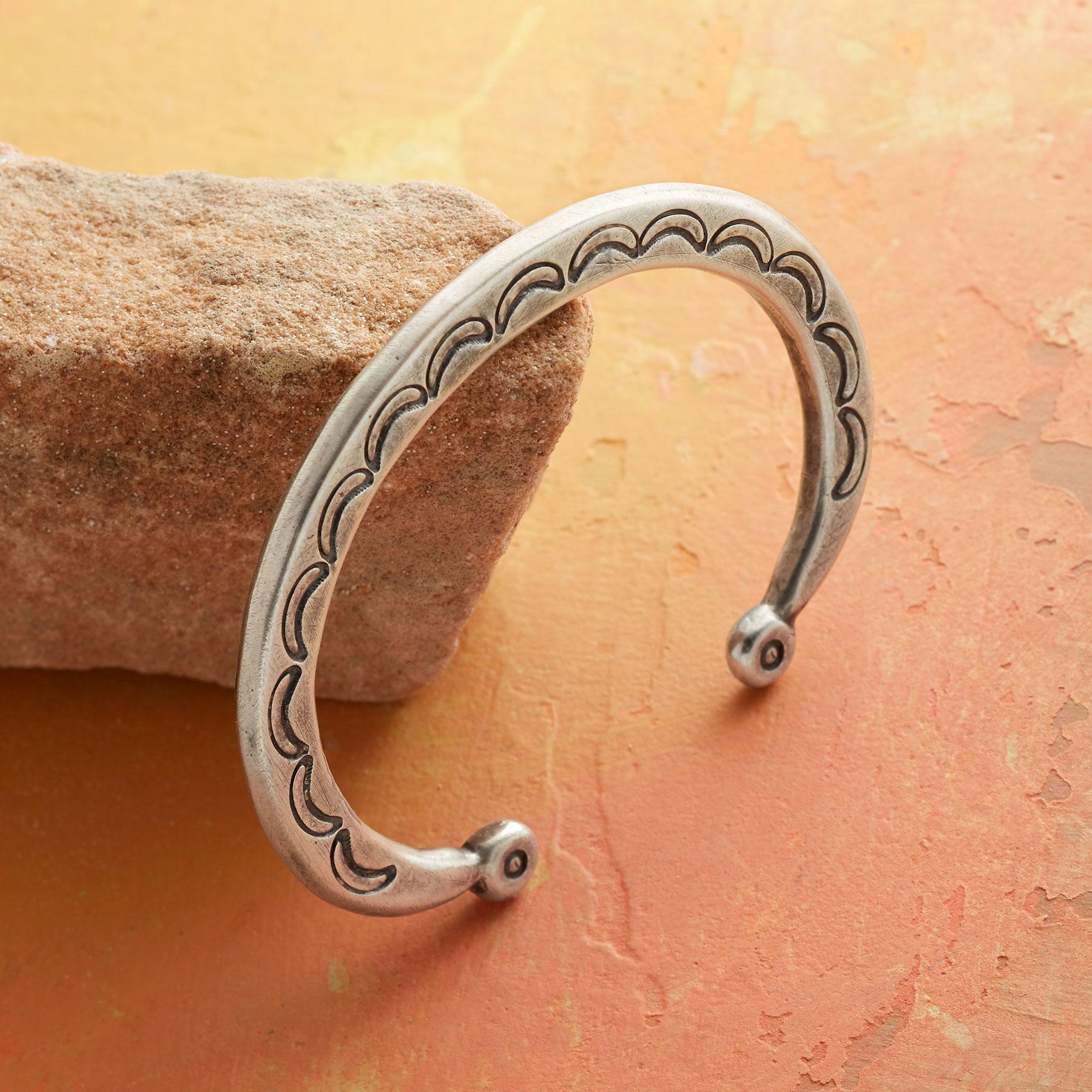 CRESCENT MOON STERLING CUFF: View 1