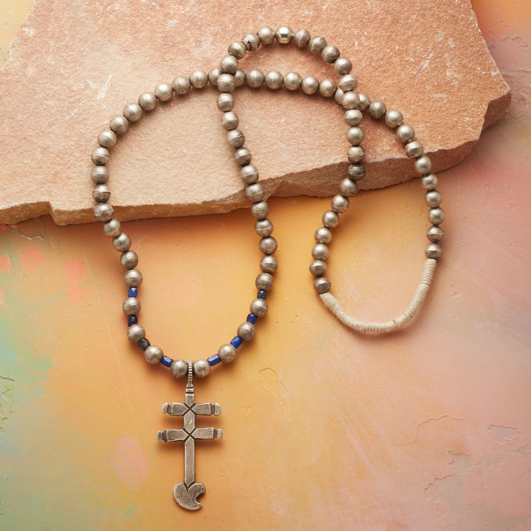 1950S PUEBLO CROSS NECKLACE: View 2