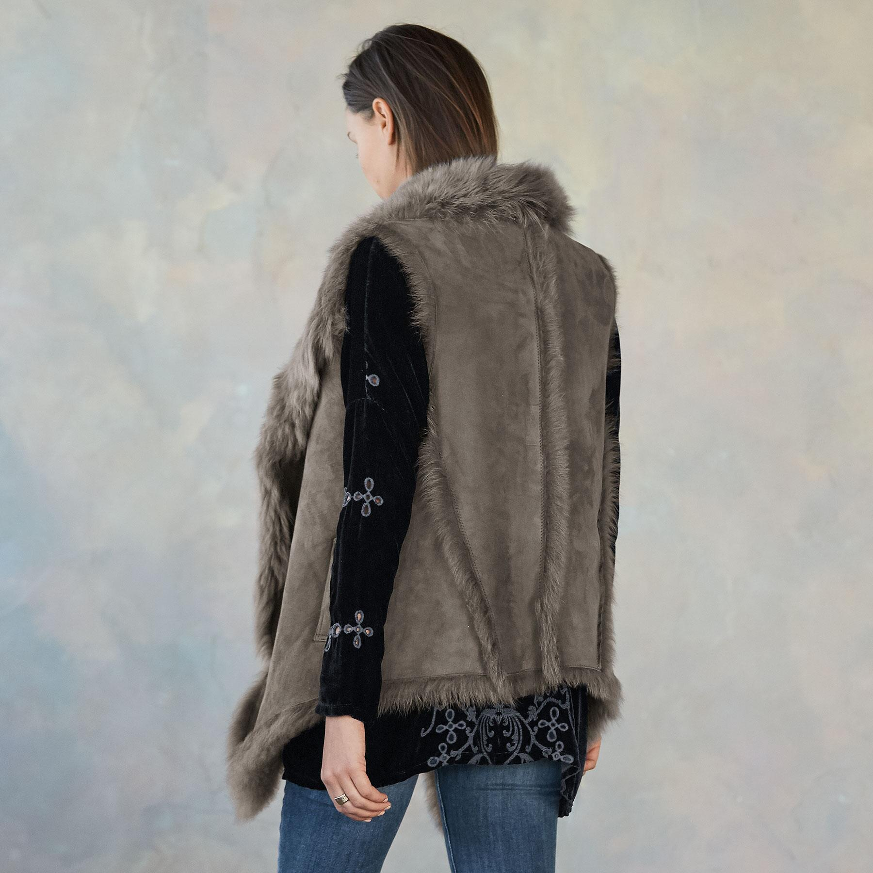SIMONE SHEARLING VEST: View 4