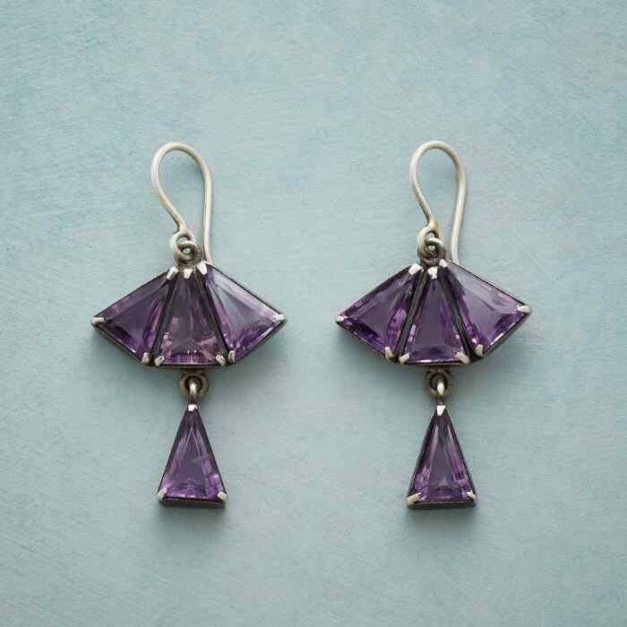 FAN OF PURPLE EARRINGS