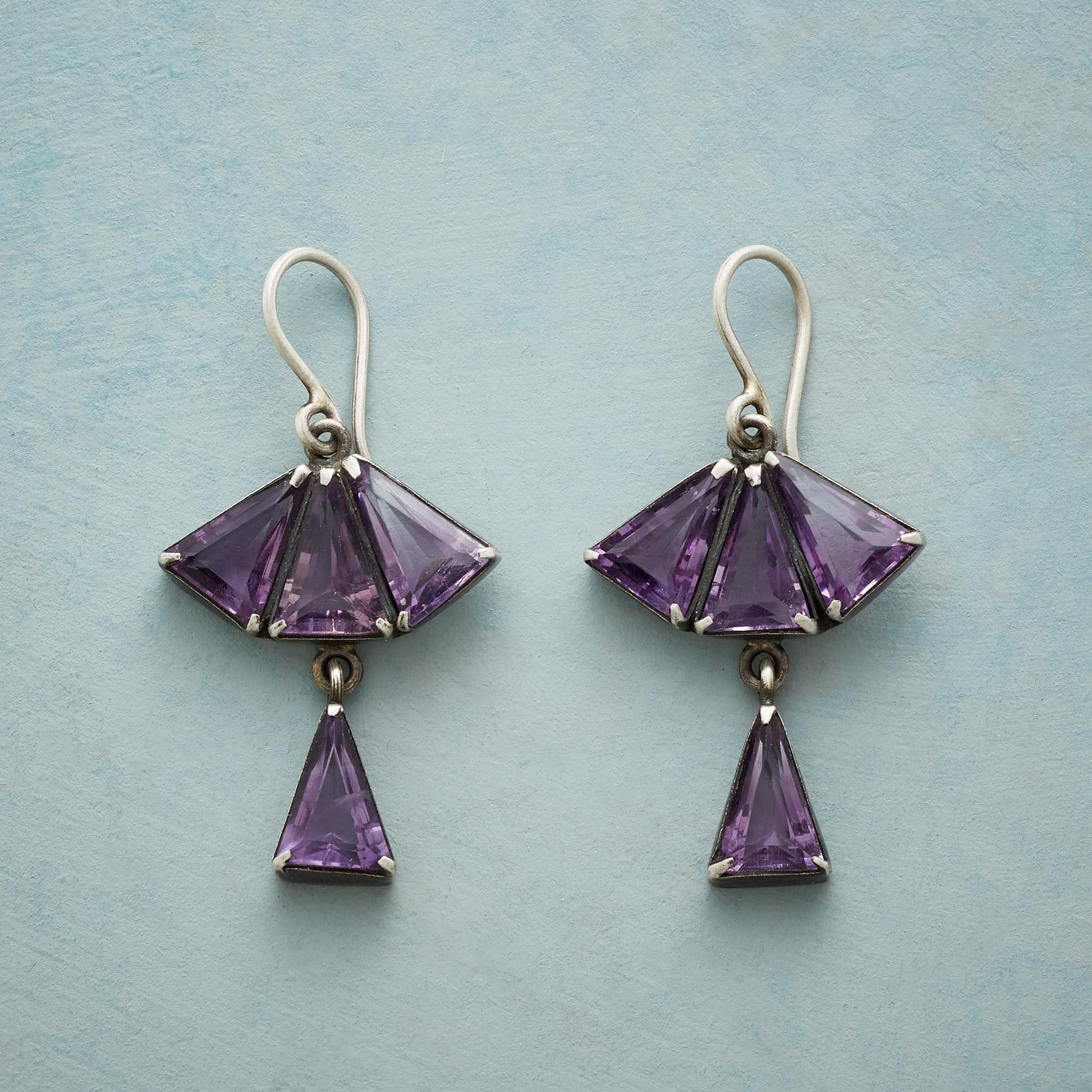 FAN OF PURPLE EARRINGS: View 1