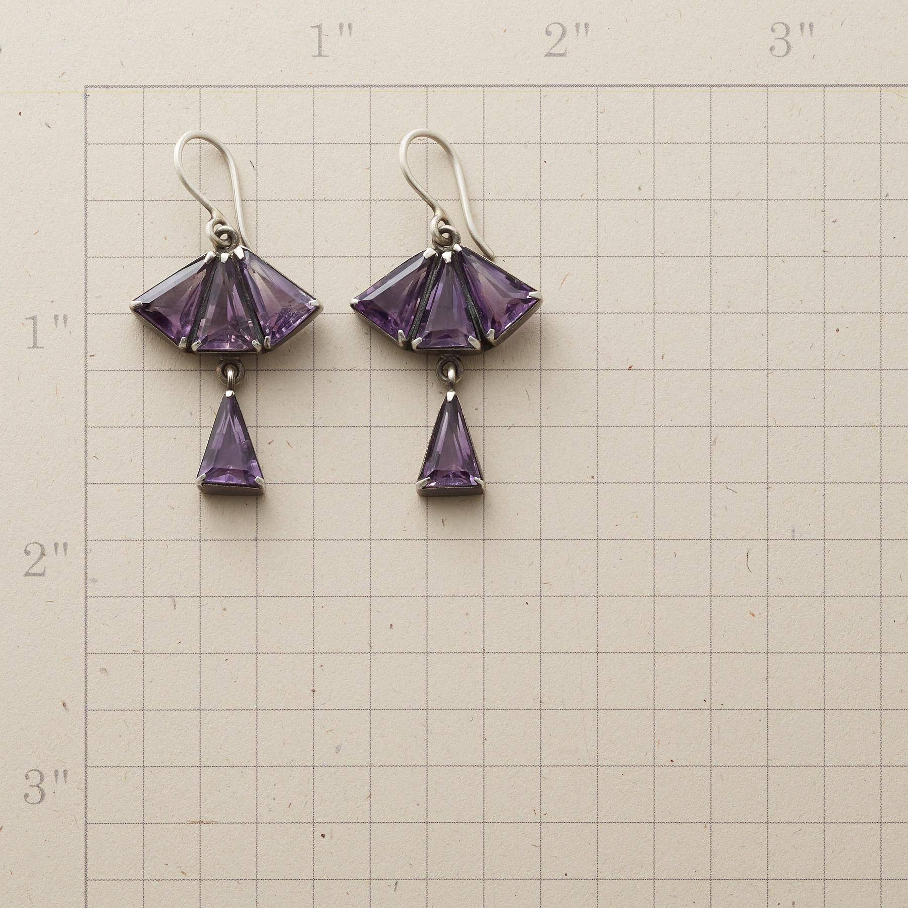 FAN OF PURPLE EARRINGS: View 2
