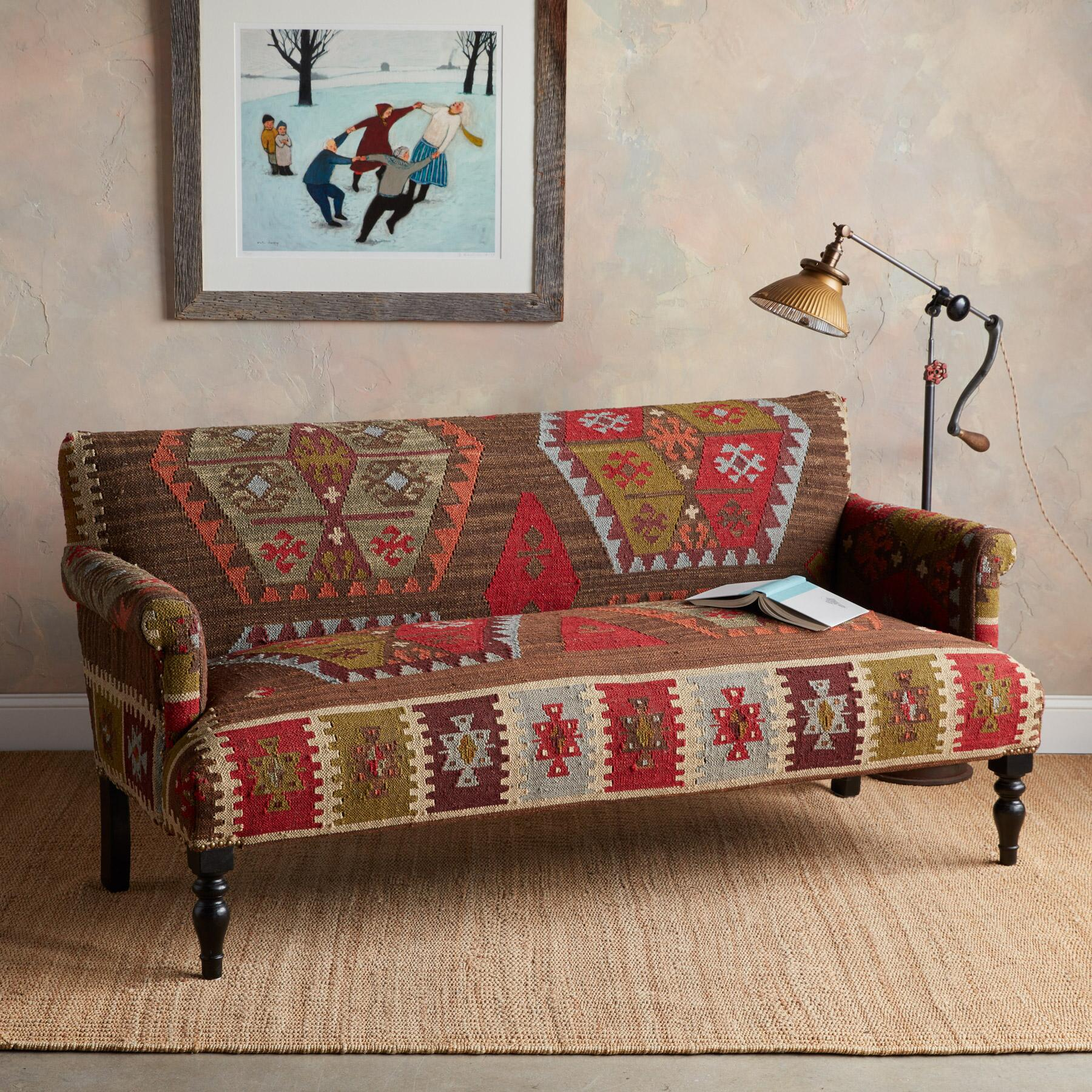 REDLANDS KILIM LOVESEAT: View 2
