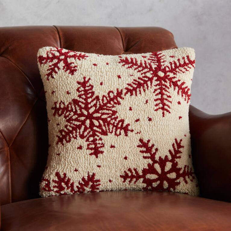 SNOWFALL PILLOW