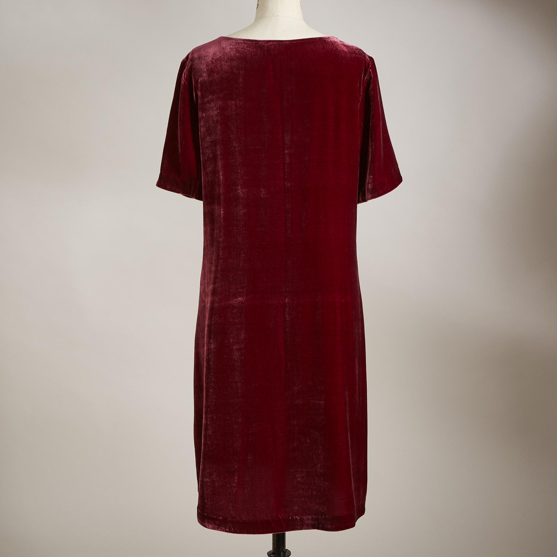 OLIVIA VELVET DRESS PETITE: View 2