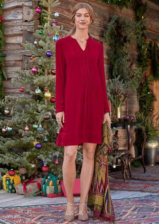 VELVET ENCHANTMENT DRESS - PETITES