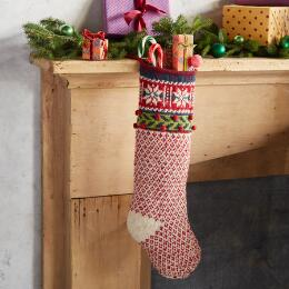 HEIRLOOM ALPINE SNOWFLAKE STOCKING