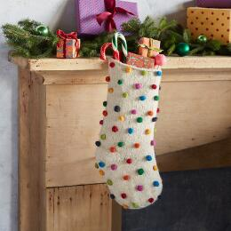 HEIRLOOM SCANDIA POMPOM STOCKING
