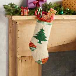 HEIRLOOM CHRISTMAS TREE STOCKING