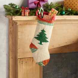 HEIRLOOM CHRISTMAS TREE STOCKING