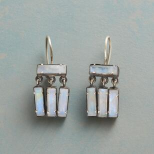 MOONSTONE BAGUETTE EARRINGS