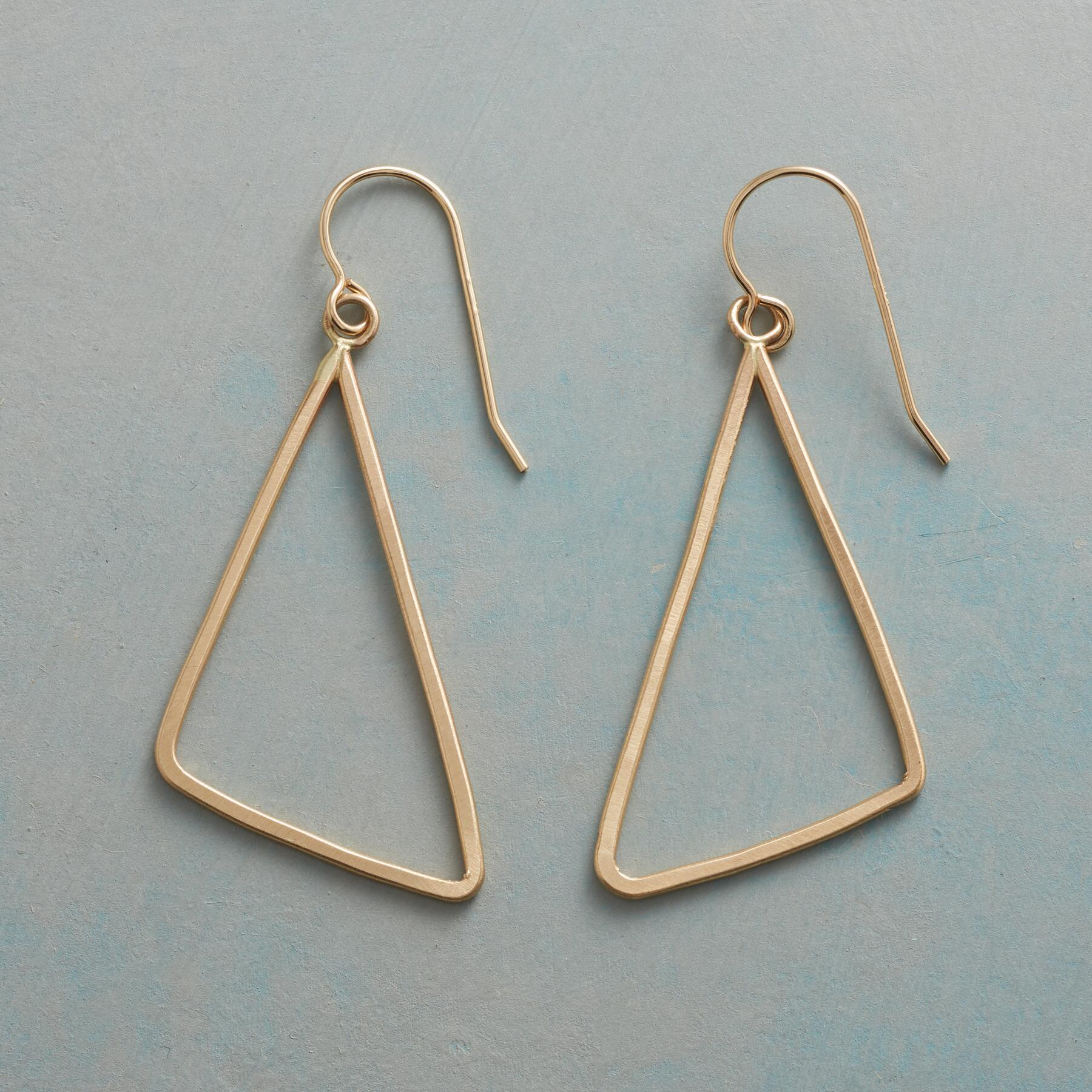 TRY ANGLE EARRINGS: View 1