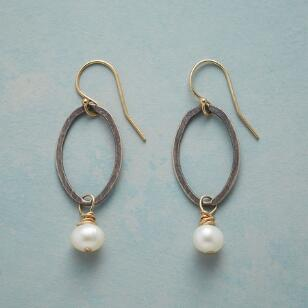 OVALS AND PEARLS EARRINGS