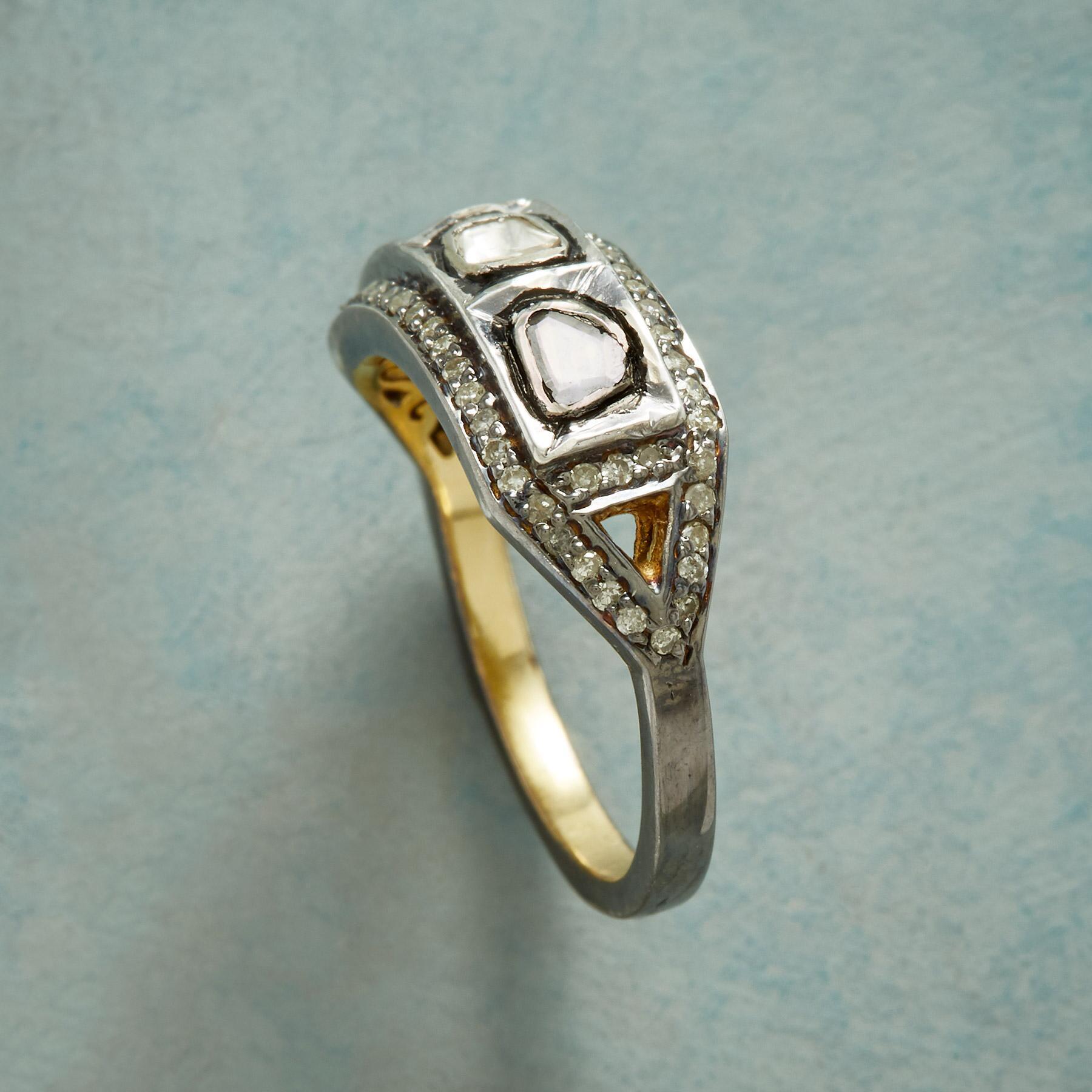 POLKI TRIO DIAMOND RING: View 2