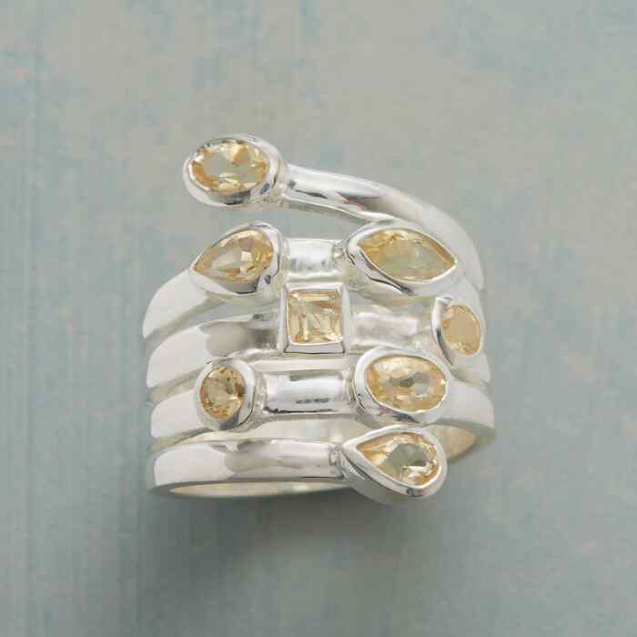CITRINE SCATTER RING