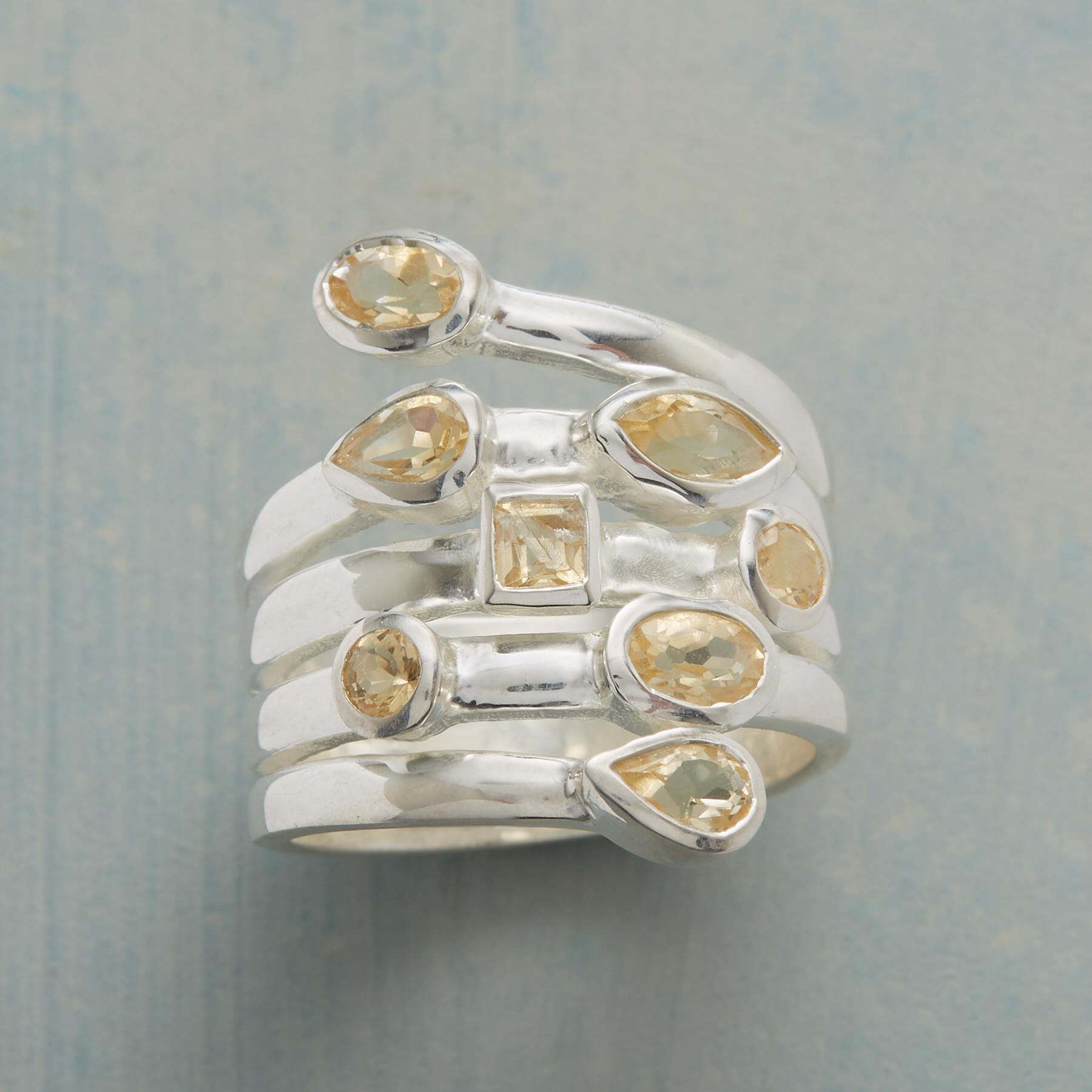 CITRINE SCATTER RING: View 1