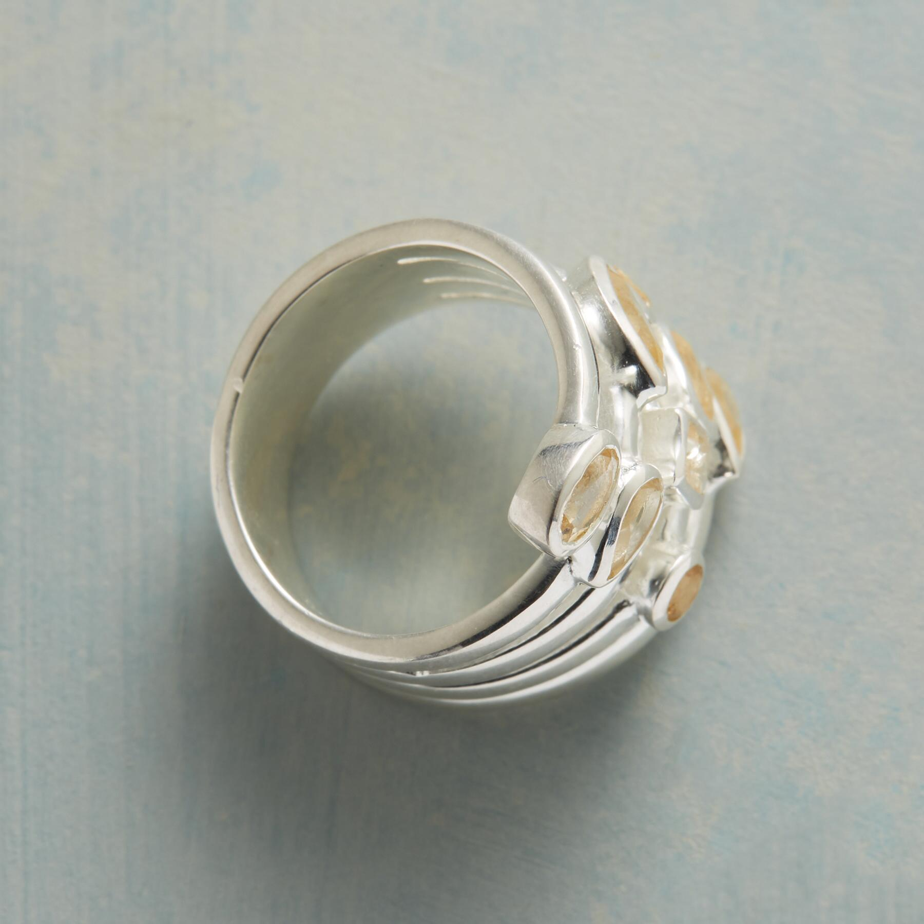 CITRINE SCATTER RING: View 2