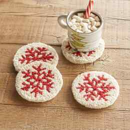 SNOWFLAKE COASTERS, SET OF 4