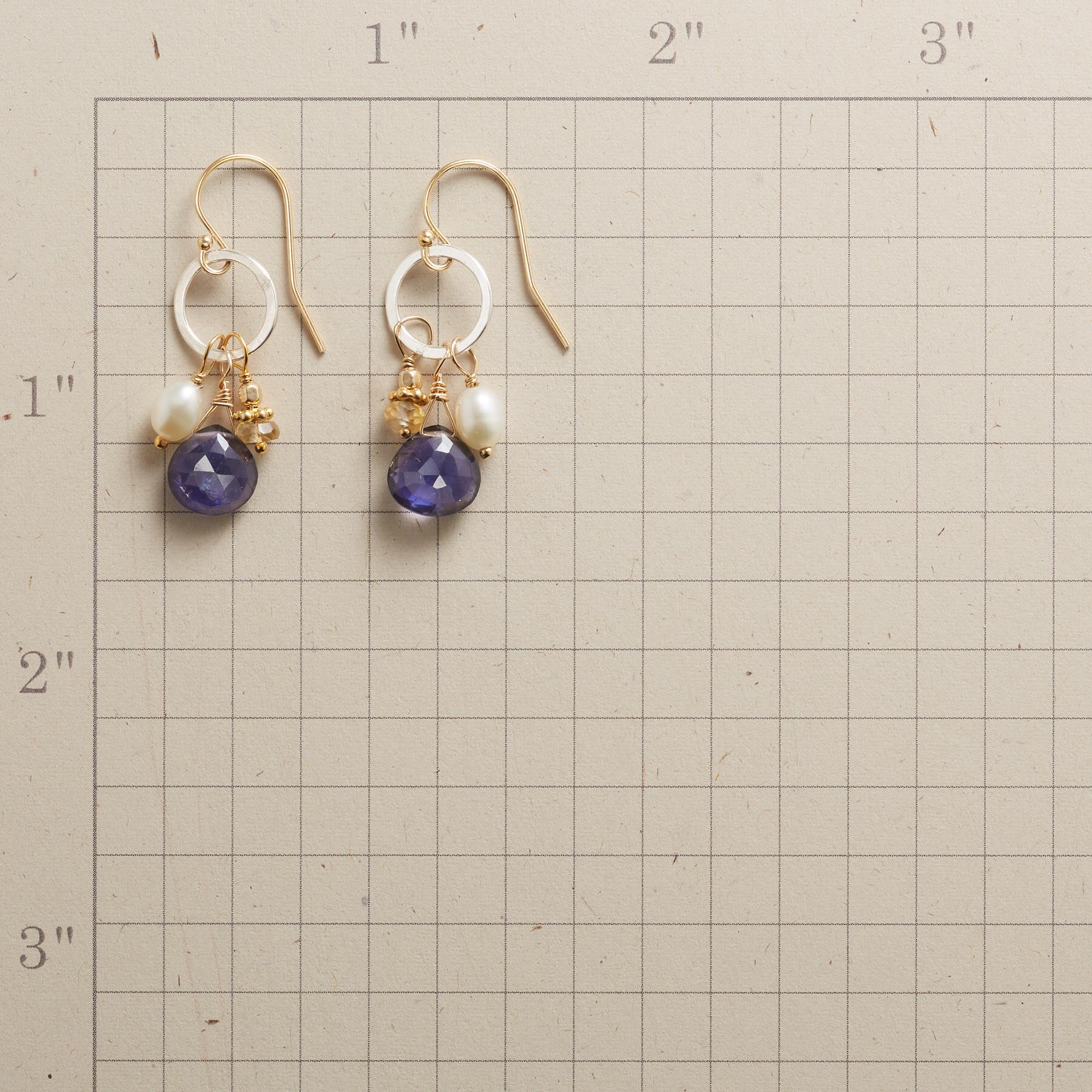 MIDNIGHT SUNLIGHT EARRINGS: View 2