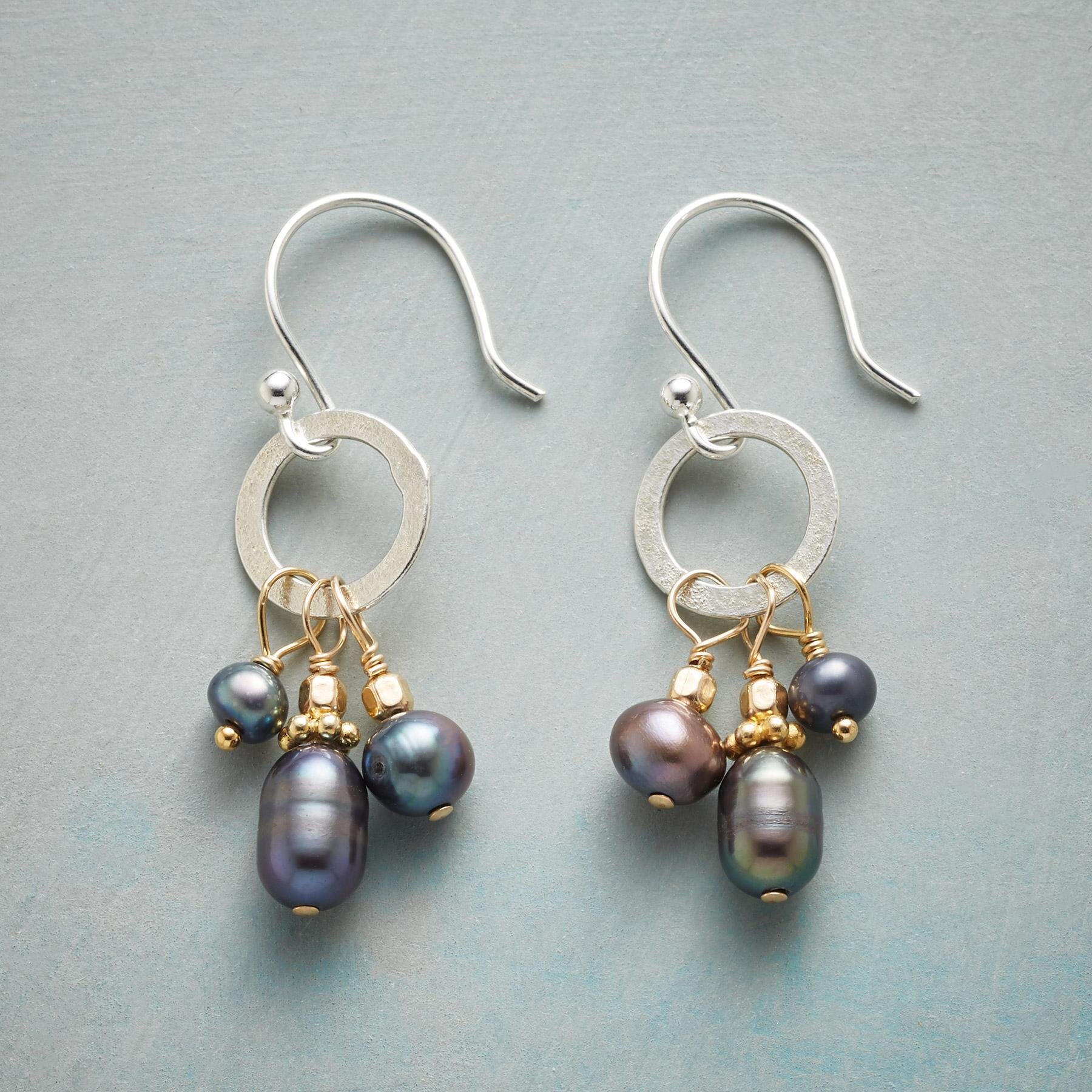 TRINITY PEARL EARRINGS: View 1