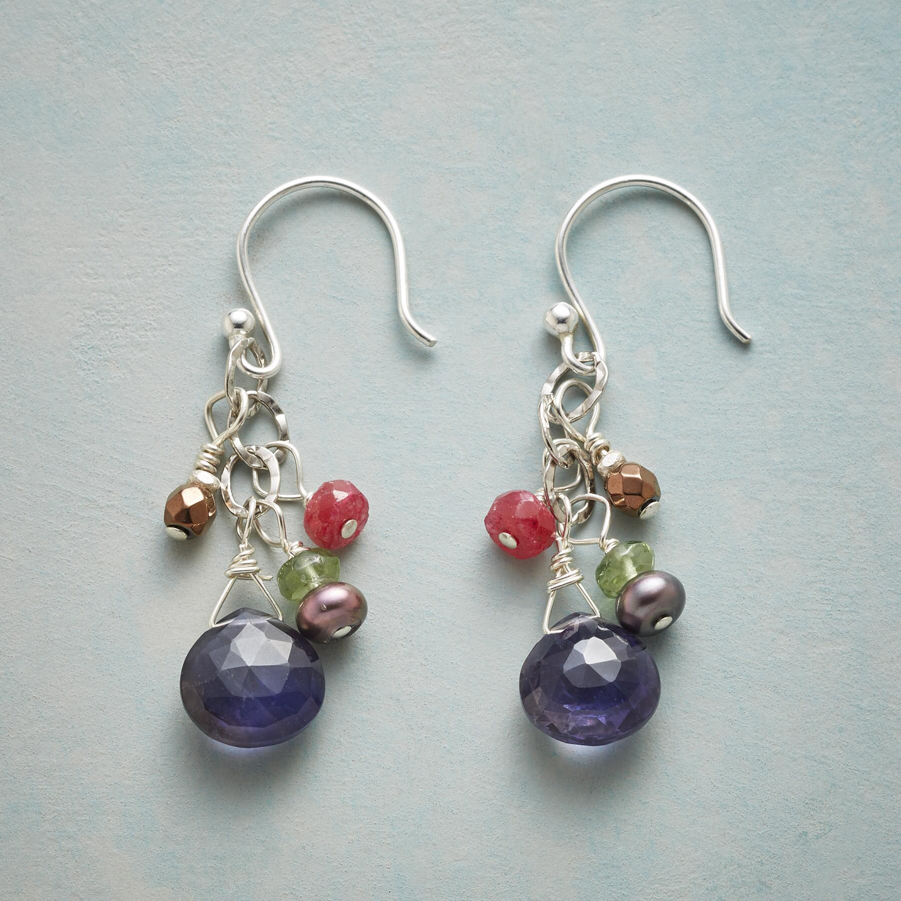 MIDNIGHT REVELRY EARRINGS: View 1