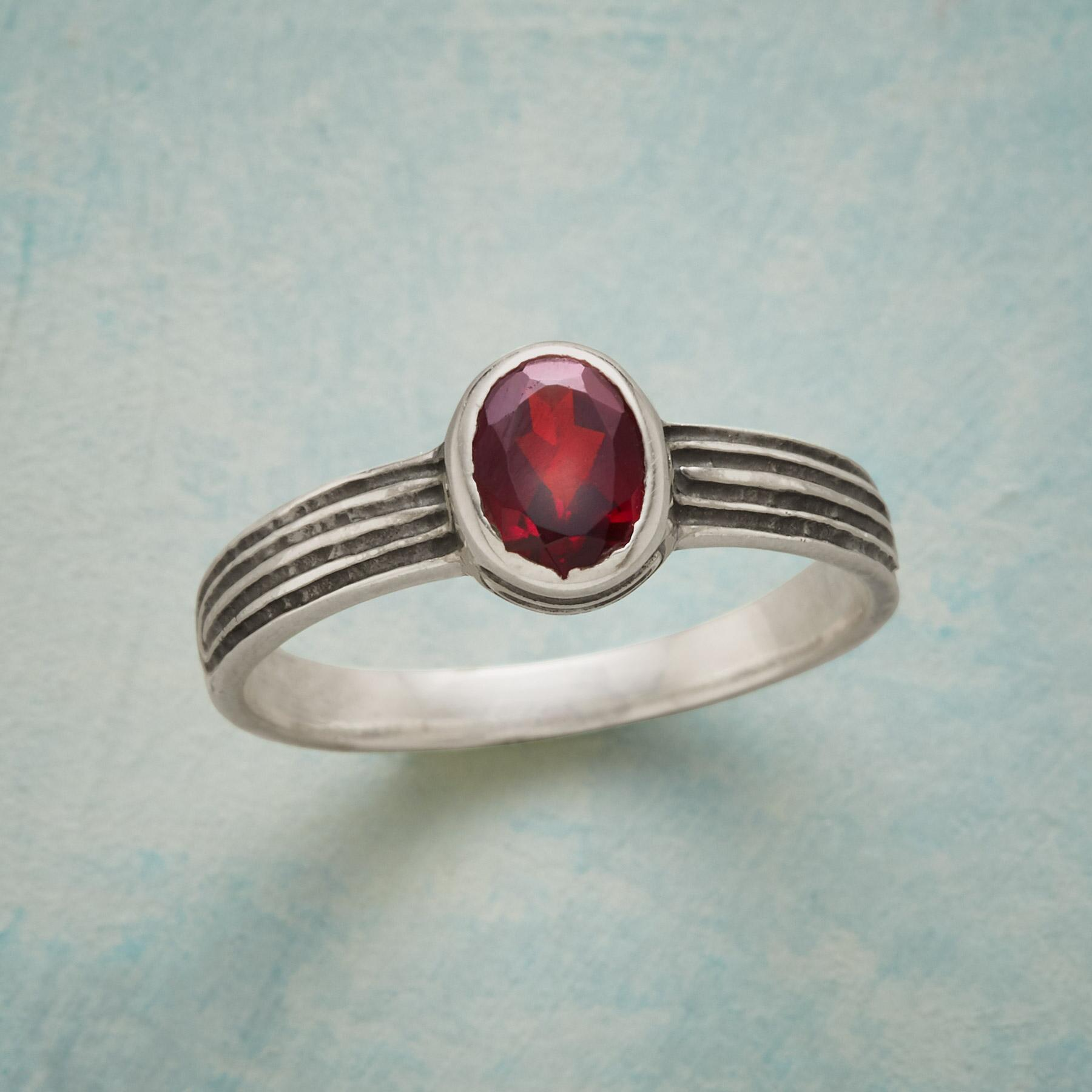 DANIELLA GARNET RING: View 1