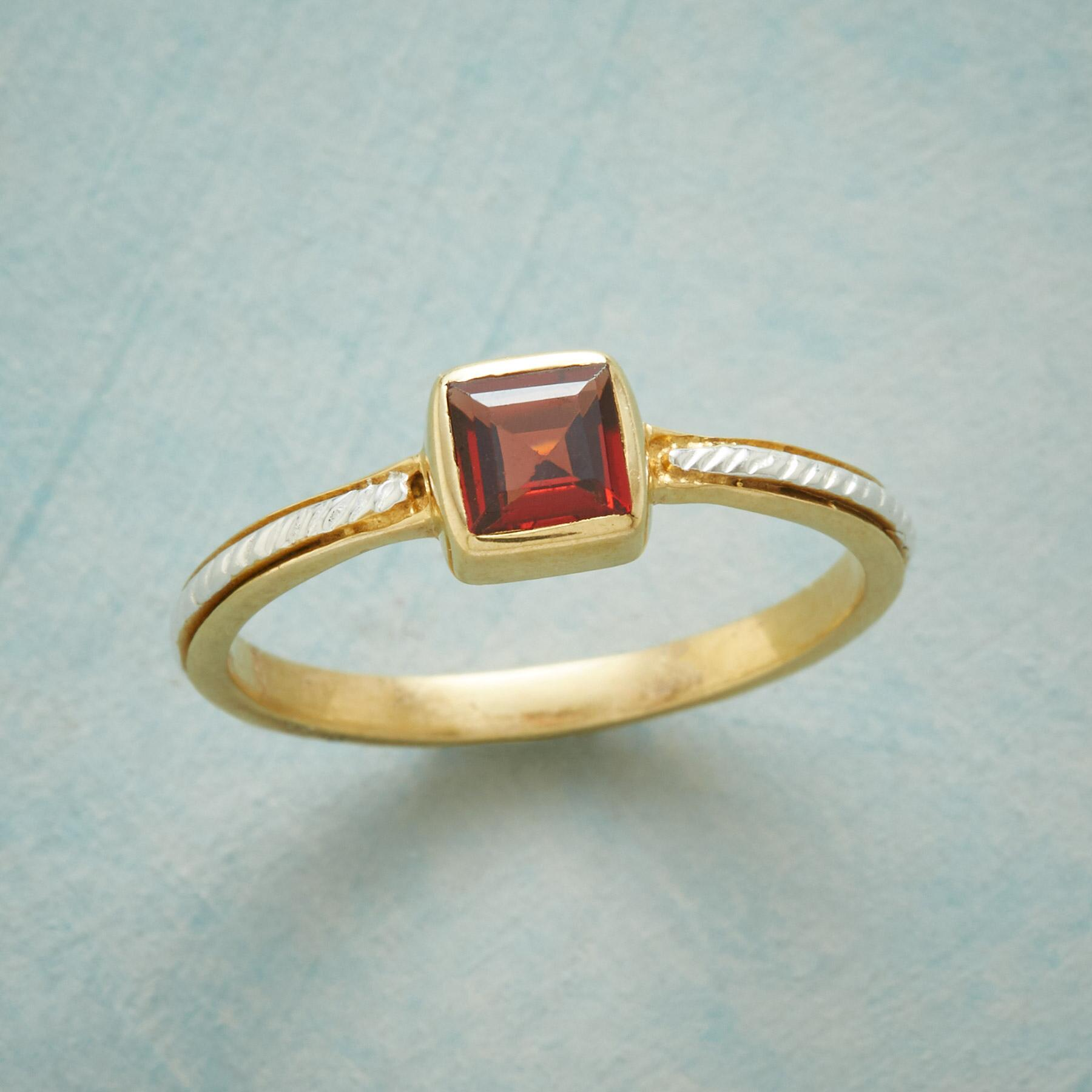 LASSO GARNET RING: View 1