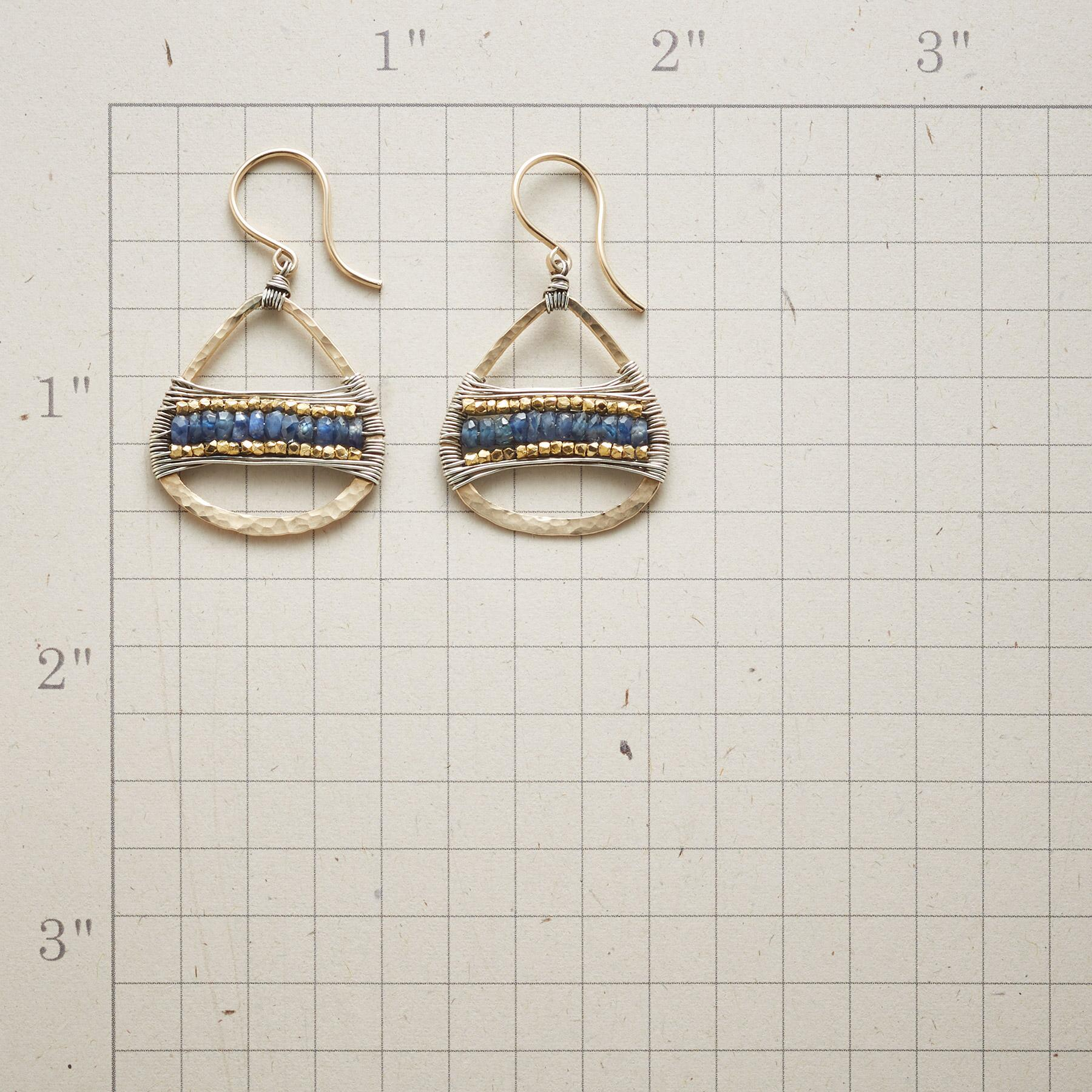 SAPPHIRE BRIDGE EARRINGS: View 2