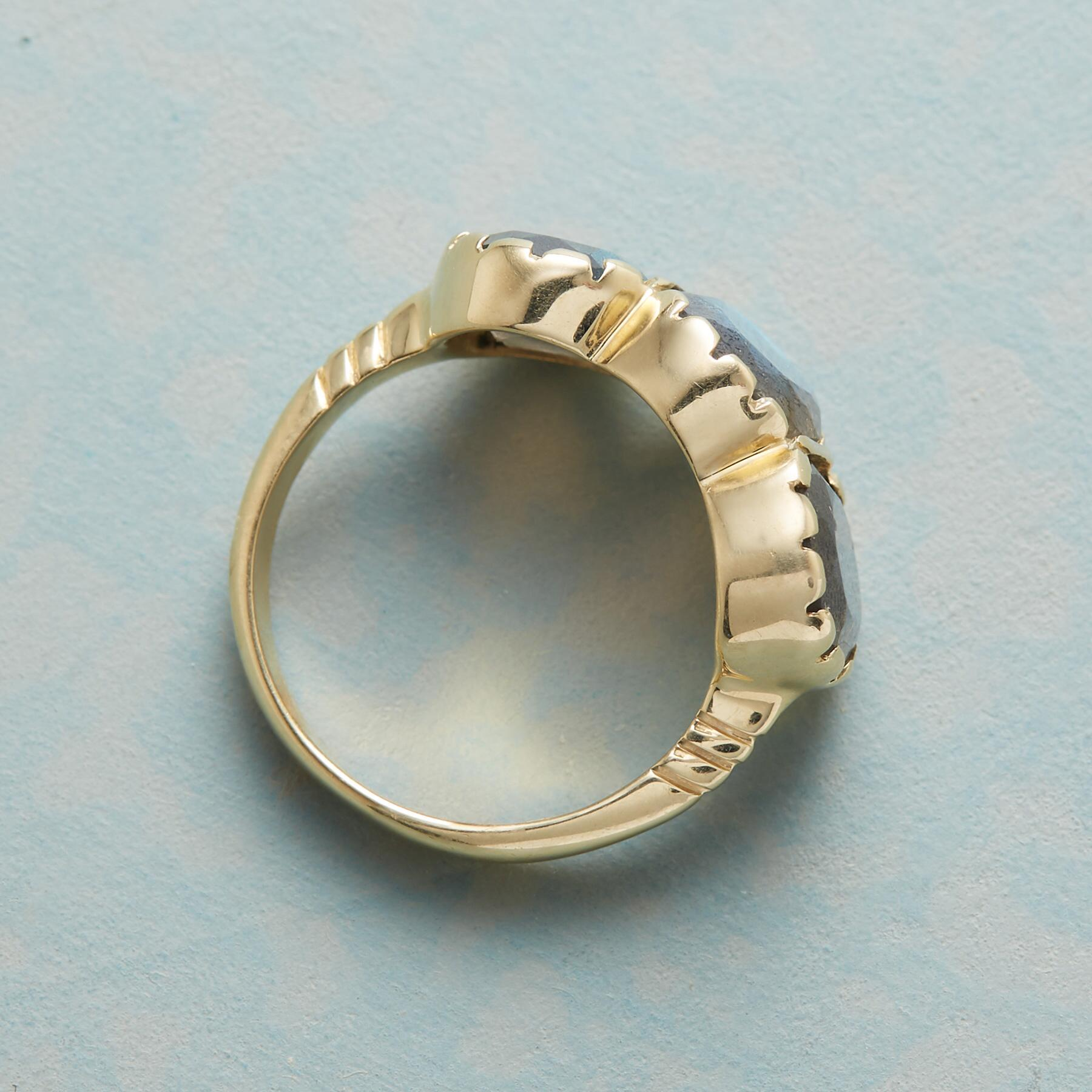 LABRADORITE TRIAD RING: View 2
