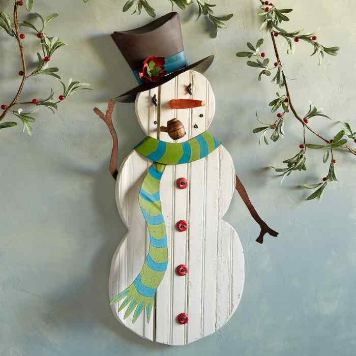 SANDY THE SNOWMAN WALL ART