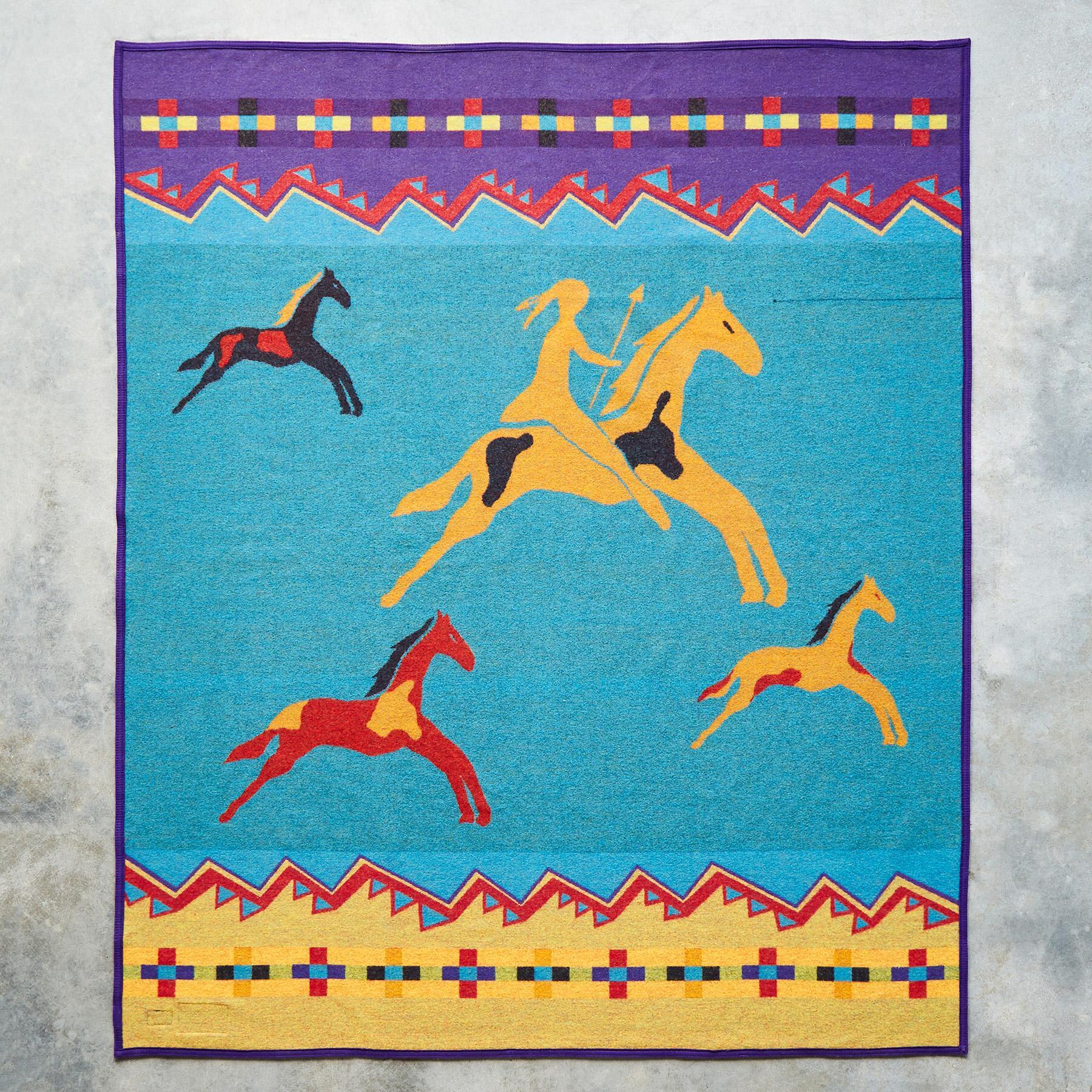PENDLETON CELEBRATE THE HORSE THROW: View 3