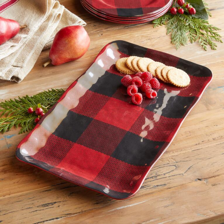 BUFFALO CHECK SERVING PLATTER
