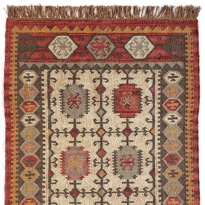 CASTLE CROSS KILIM RUG: View 1