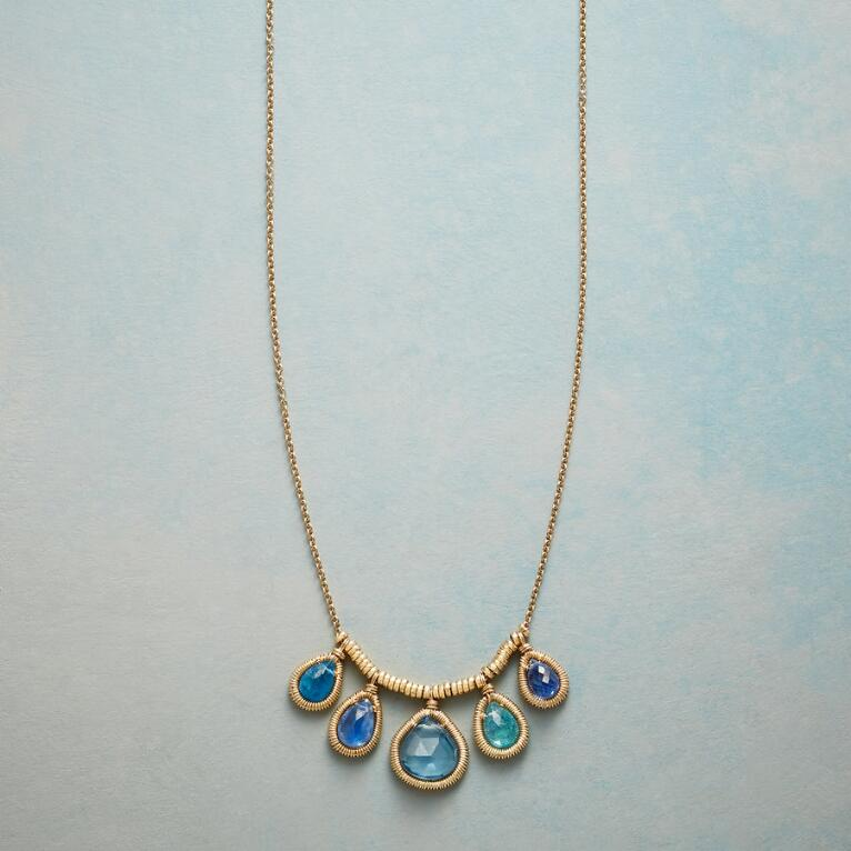 GRACED WITH BLUE NECKLACE