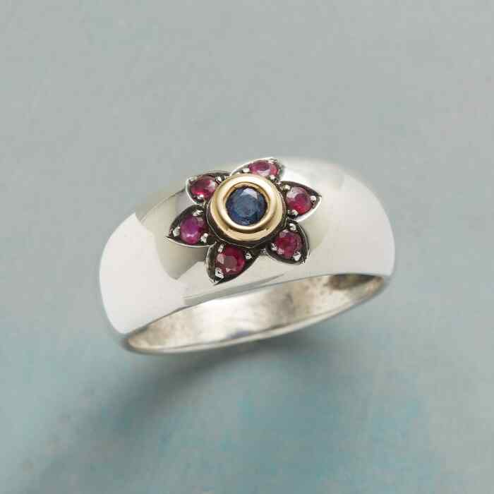 RUBY LOTUS RING