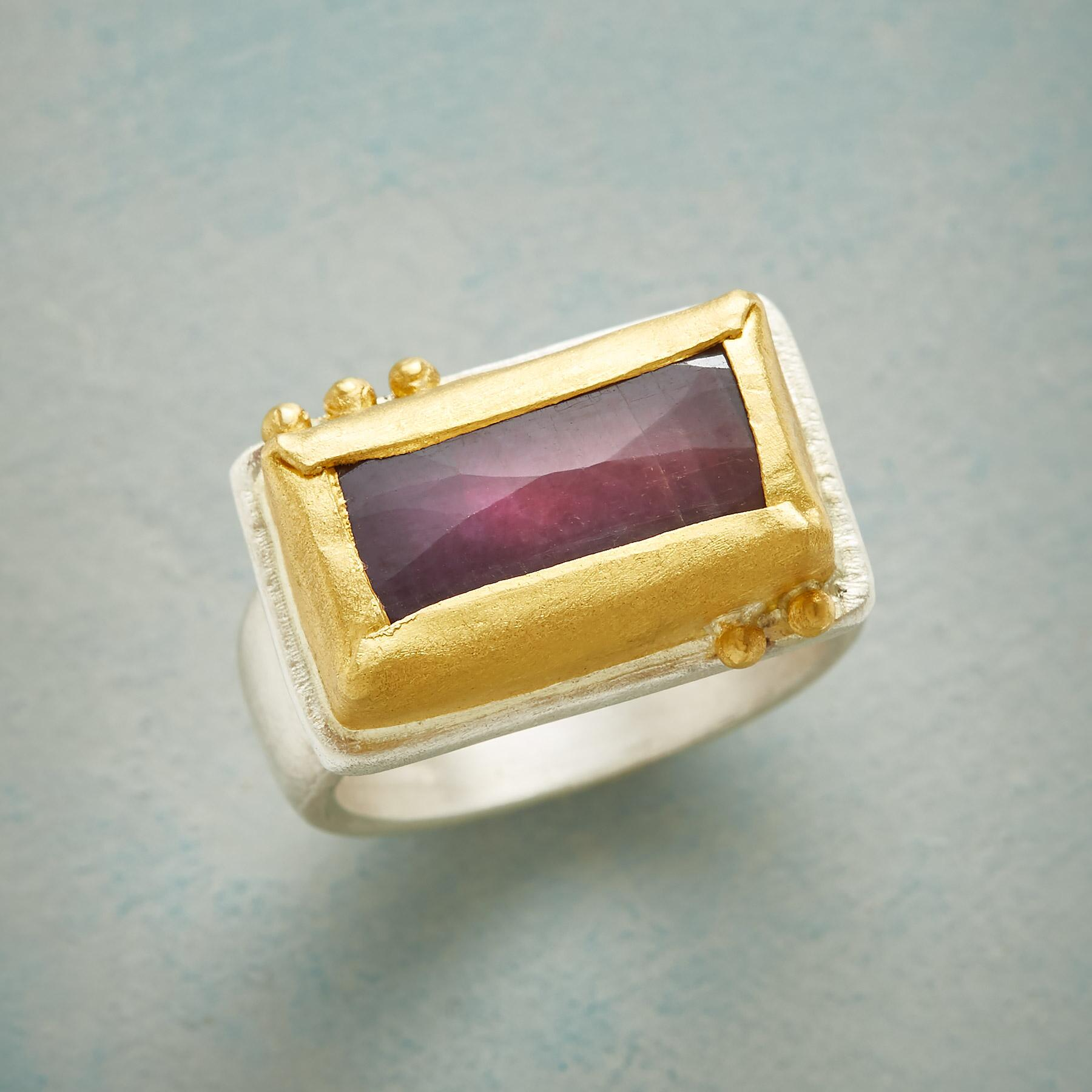 RUBY RECTANGLE RING: View 1